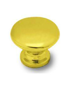 Brass Plated Small Knob 1""