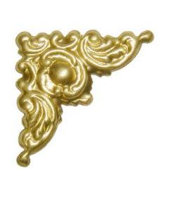 "Brass Victorian Style Decorative Corner-1-1/8"" x 1-1/8"""