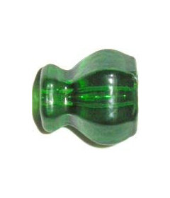 "Clear Dark Green Glass Drawer Knob15/16"""