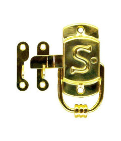 """Brass Right Sellers""""S"""" Cabinet Latch and Catch-3/8"""" x 1 1/2"""""""