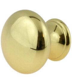 "Polished Brass Classic Design Knob 1-1/4"""
