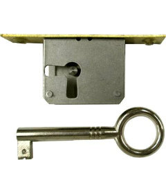 Right Hand Cabinet Door or Drawer Full Mortise Lock Set with Skeleton Key