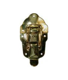 Brass Plated Stamped Steel Large Flush Mount Trunk Drawbolt
