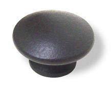 Birch Wood Black Drawer Knob 1-1/2""