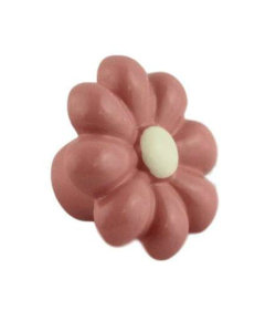 """Pink & White Flower Resin Drawer Knob 1-1/2"""""""