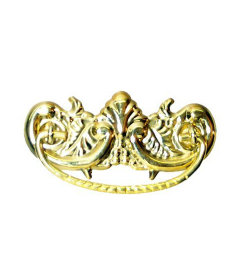 Stamped Brass Victorian Bail Pull