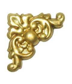 "Brass Victorian Style Decorative Corner-3/4"" x 3/4"