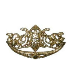 """Brass Victorian Bail Pull: 3"""" Centers"""