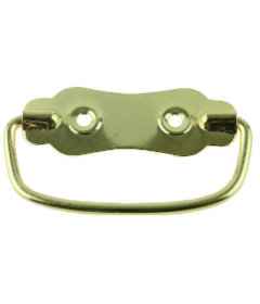 """Brass Plated Chest Handle - 2 3/8"""""""