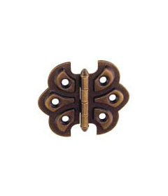 """Antique Brass Plated Butterfly Hinges  2 1/4"""" Wide x 2"""" High"""