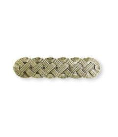 "Antique Bronze Braided Satin Drawer Pull Ceneters: 3"""