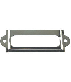 Small Nickel Plated Label Holder - 2 3/8""
