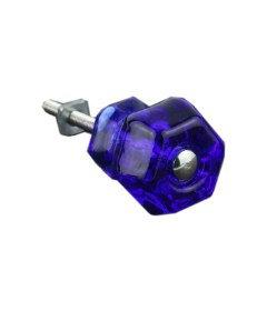 "Antique Depression Blue Cobalt Glass Drawer Knob 1-1/4"""