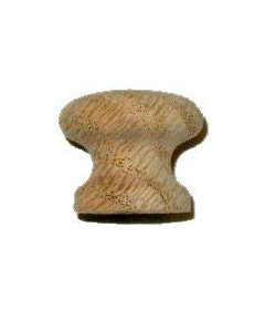 Side Grain Oak Knob 1""