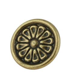 "Antique English Flower Knob 1-3/8"""