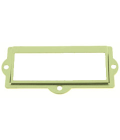 Brass Plated Metal Label Holder - 3 1/2""