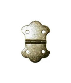 Brass Plated Stamped Steel Small Trunk Flap Hinge