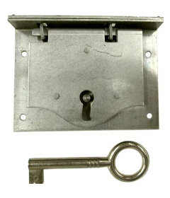 Steel Half Mortise Chest Lock with Key