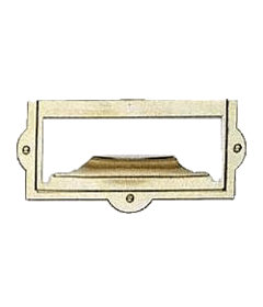 """Brass File Card Frame with Pull 1 1/2"""" High x 3 3/16"""" Wide"""