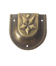 "Antique Brass Star Trunk Handle Loop 2 1/4"" x 2"""