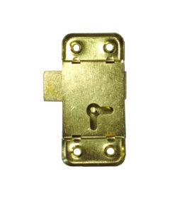 Large Flush Mount Lock with Skeleton Key for Doors & Drawers