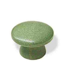 """Wood Green Spotted Drawer Knob 1-3/16"""""""