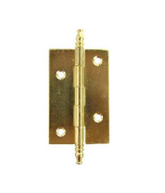 "Antique Brass Butt Hinges with Finials - 2"" H x 1 5/8""W"