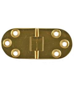 "Brass Sewing Machine Lid Hinge  1 3/16 Wide x 2 13/16"" Long"