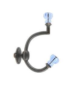 Oil Rubbed Bronze & Ice Blue Glass Knob Coat Hook