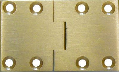 "Brass Butler Tray Hinges  2-1/2""long x 1-1/2""wide"