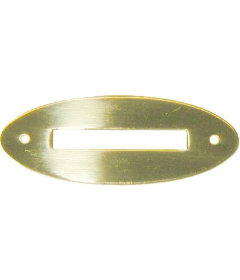 """Stamped Brass Oval Coin Slot Cover-2-1/4""""L x 7/8""""W"""