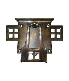 Antique Cast Brass Arts & Crafts Bail Pull