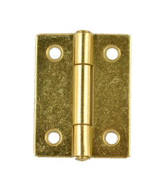 "Brass Plated Butt Hinges - 2"" High x 1-1/2"" Wide"
