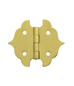 """Brass Butterfly Hinges for Boxes & Trunks 1-1/8"""" Wide x 1-1/4""""High"""