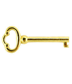 Brass Plated Grandfather Clock & Furniture Skeleton Key