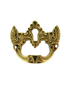 Brass Drawer Pull With Keyhole