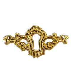 Antique Excuisite Cast Brass Keyhole Escutcheon