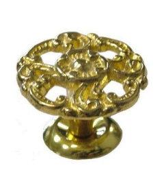 "Large Victorian Cast Brass Knob 1 1/2"""