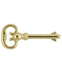 Brass Plated Roll Top Desk Replacement Skeleton Key