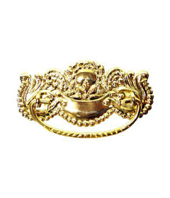 Victorian Stamped Brass Bail Pull