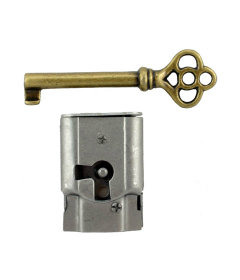 Right Hand Full Mortise Drawer Lock with Skeleton Key
