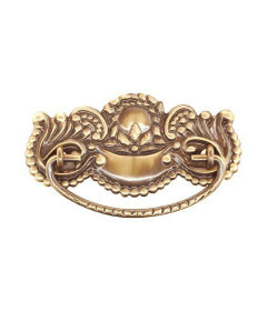 Antiqued Stamped Brass Fancy Victorian Bail Pull