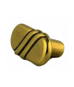 "Brass Oval Regency Knob 1-7/8"""
