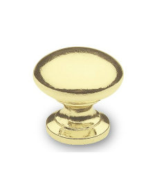 "Polished Brass Wide Base Classic Knob 1"""