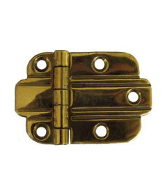"Brass Art Deco Flush Mount Hinge 2 1/4"" Wide x 1 1/2"" High"