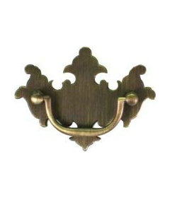 """Antique Brass Chippendale Bail Pull Centers: 2"""""""