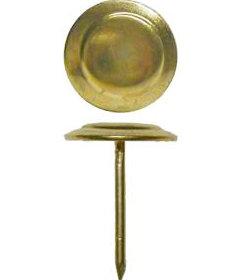 "Brass Plated Steel Saratoga 13/4"" head diameter"
