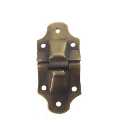 """Antique Brass Trunk Stop Hinge 1 1/2"""" Widex 3 1/4"""" Tall"""