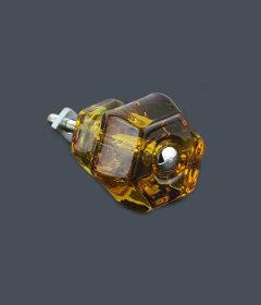 "Antique Depression Honey Amber Glass Drawer Knob 1-1/2"""