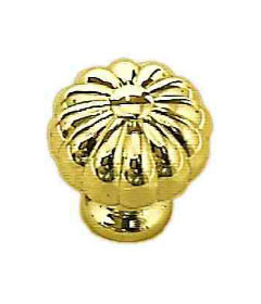 "Brass Plated Large Pumpkin Knob 1-3/8"""